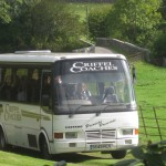 A coach load of visitors arrives at Glenlair