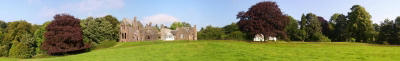 Panoramic view of Glenlair House and Cottage