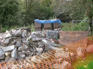 Piles of Breezeblock and Stone