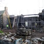 Fully scaffolded - rear