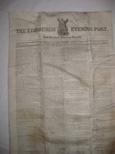 The Edinburgh Post page 1 225x300 Opening the Time Capsule